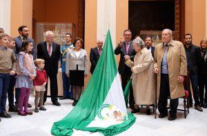 Homenaje a la bandera de Andalucía celebrado el 4 de diciembre